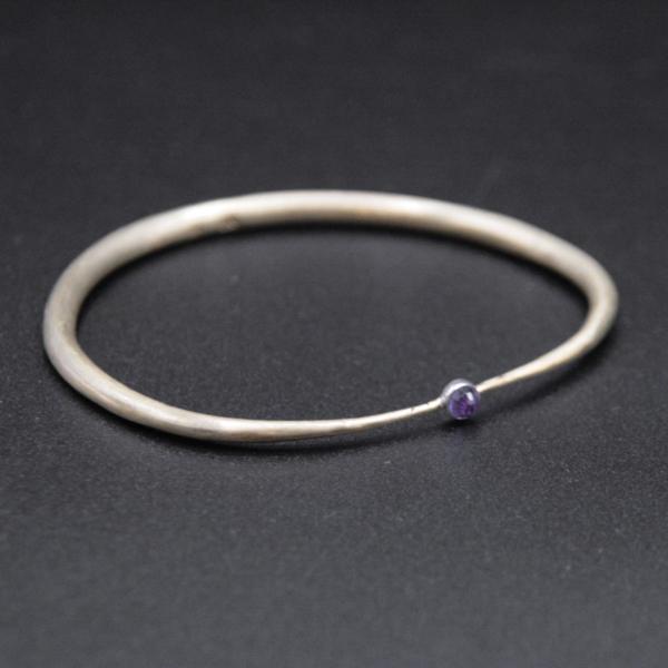 Bracelet en laiton et améthyste
