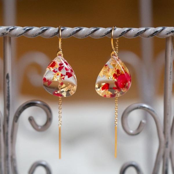 Boucles d'oreilles en crystal acrylique