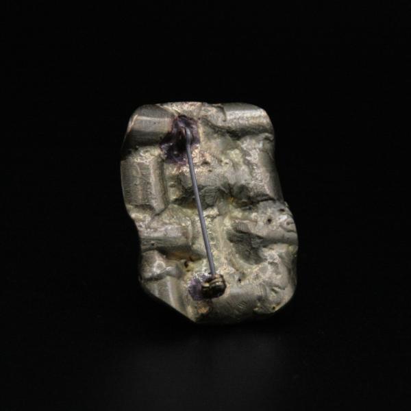 Broche carrés en bronze