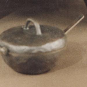 Navette en bronze avec couvercle