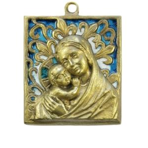 Médaillon Vierge aux Lys
