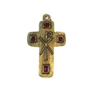 Croix en émail rouge