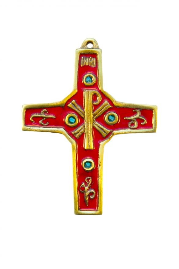 Croix murale en bronze émaillé 2