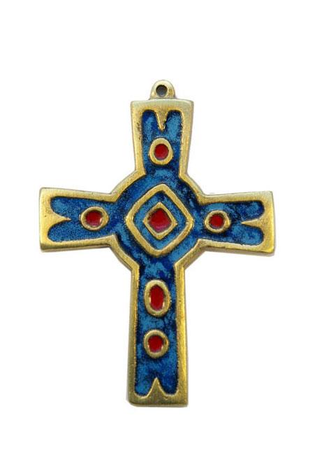 Croix murale en bronze émaillé 4