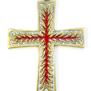 Croix murale en bronze émaillé 3