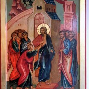 icône Jésus et St Thomas
